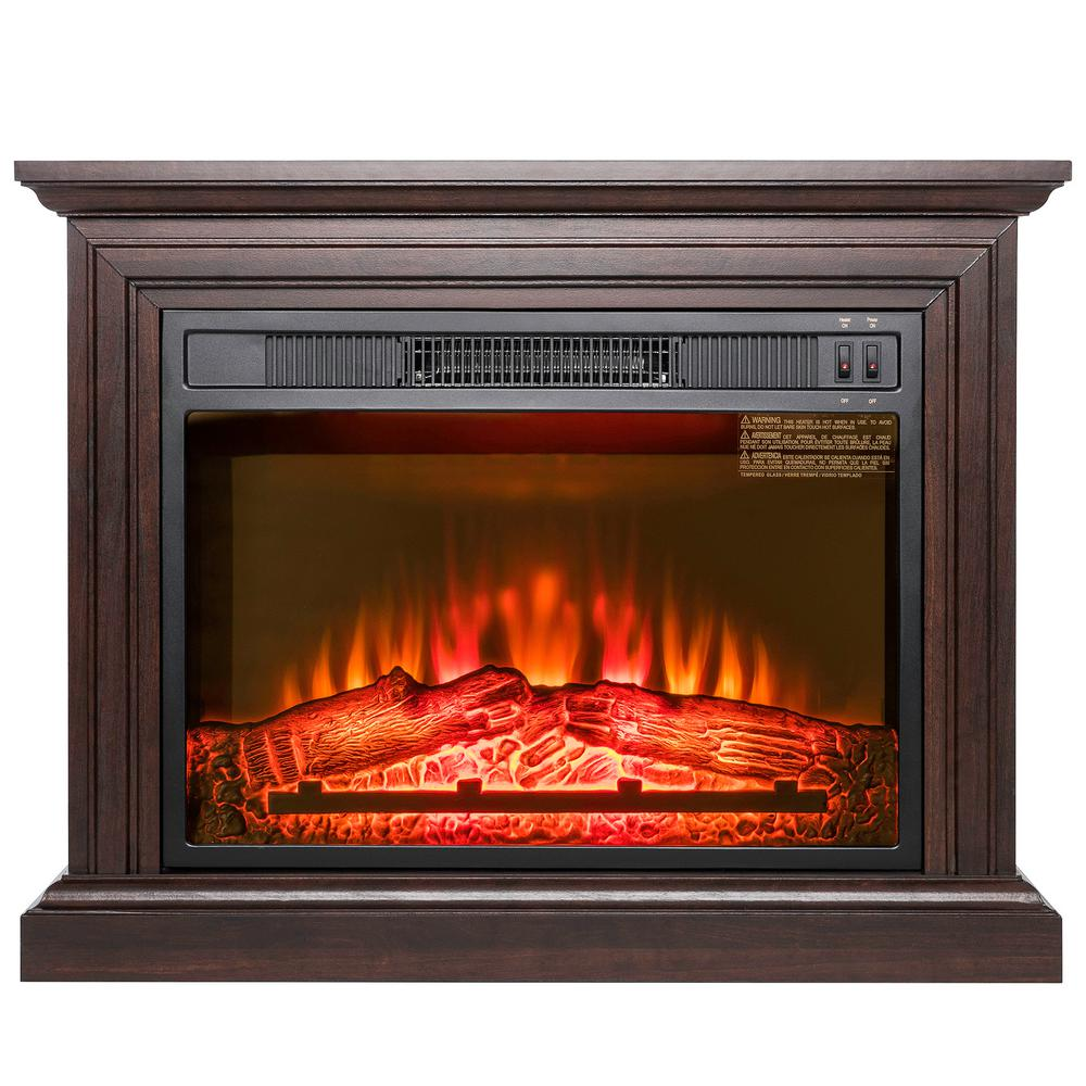 Brown Fireplace Mantel : Akdy in freestanding electric fireplace heater