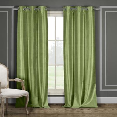 Daenerys 38 in. x 84 in. L Polyester Room Darkening Curtain Panel in Sage (2-Pack)
