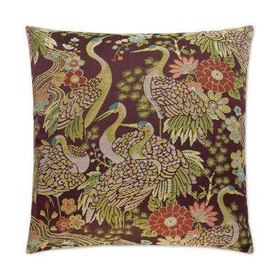 Crane Feather Down 24 in. x 24 in. Standard Decorative Throw Pillow