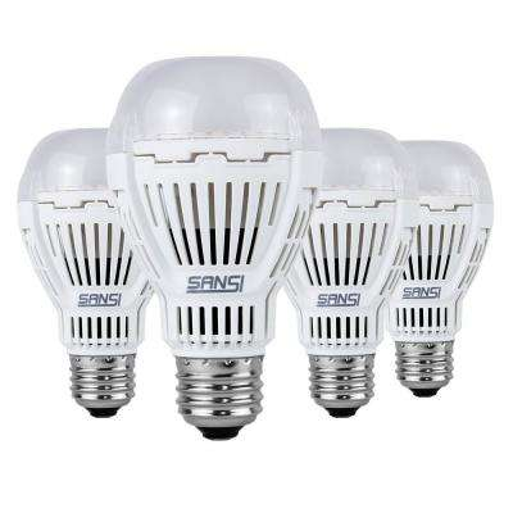 150-Watt Equivalent A19 Non-Dimmable 2000 Lumens LED Light Bulb Daylight in 5000K (4-Pack)