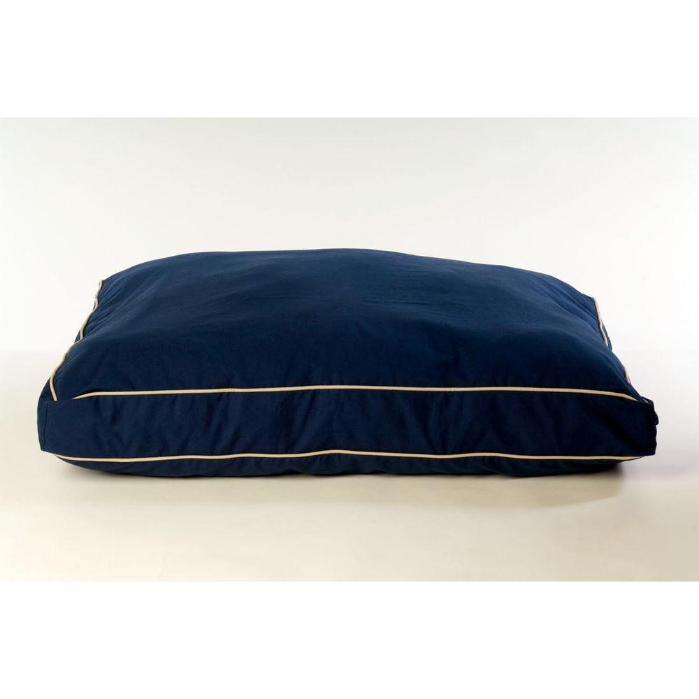Medium Classic Twill Rectangle Jamison Bed - Blue