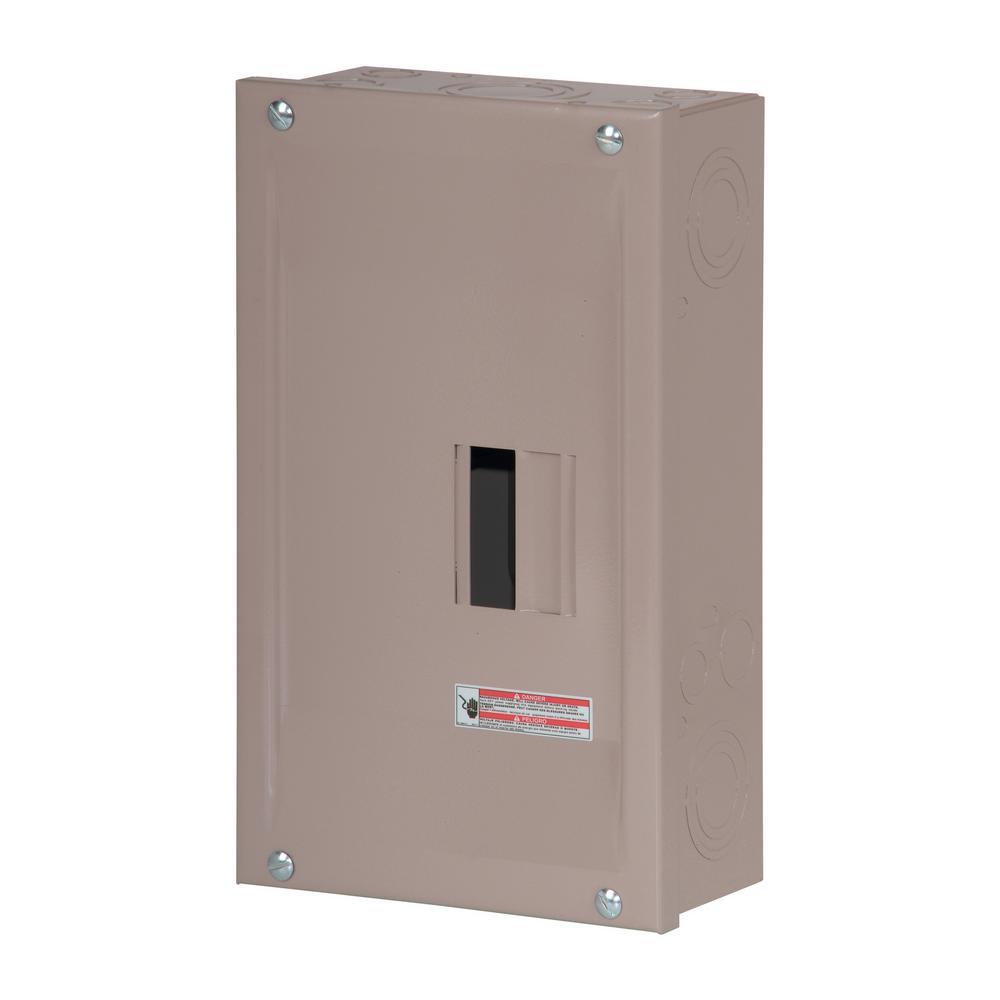 Type CH 125 Amp 2-Space 2-Circuit Main Lug Indoor Load Center with Door
