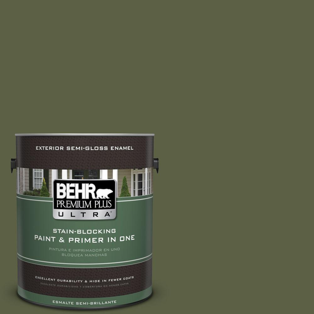 BEHR Premium Plus Ultra 1-gal. #S360-7 Down to Earth Semi-Gloss Enamel Exterior Paint