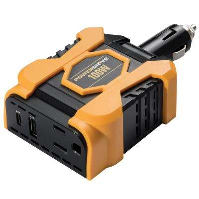100-Watt Direct Plug Inverter with 1 AC and 2 USB Ports