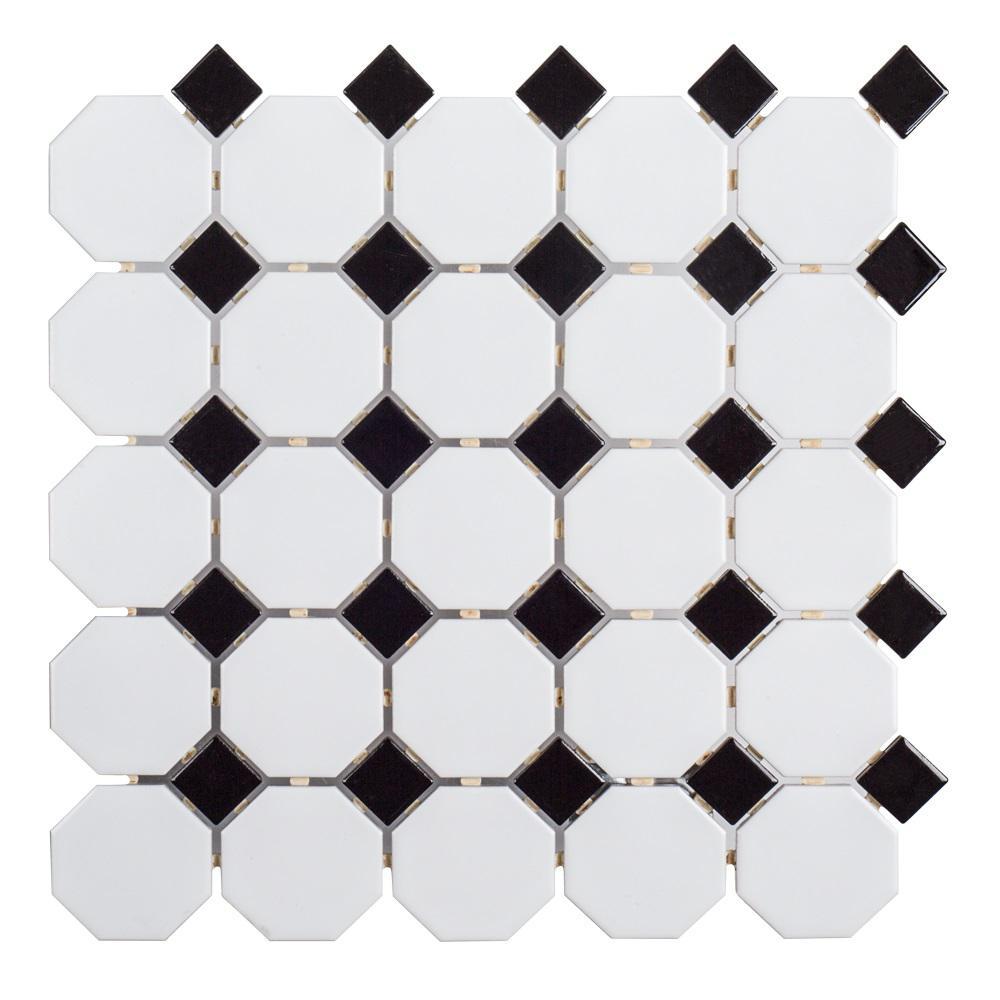 Jeffrey Court Retro Octagon Black Dot