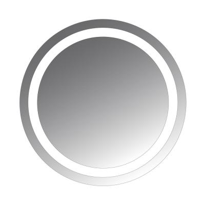 Ilana 24 in. L x 24 in. W Round LED Lighted Glass Wall Mirror by Civis USA with Semi Flush Mount