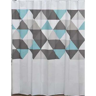 Evideco 71 in. x 71 in. Multi Nordik Collection Printed Peva Liner Shower Curtain Plastic