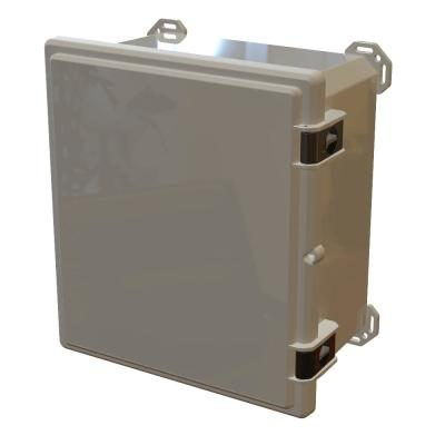 Nema 4x I632 Hinged Latch Top, 17.8 in. L x 16.3 in. W x 9.3 in. H Polycarbonate Electronic Cabinet Enclosure Gray