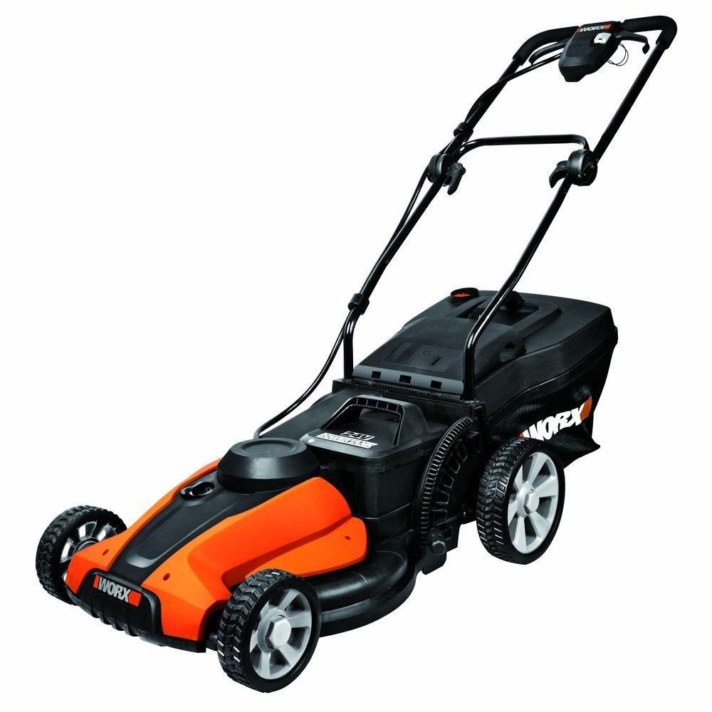 Worx 17 in. 24-Volt Walk-Behind Cordless Electric Push Lawn Mower