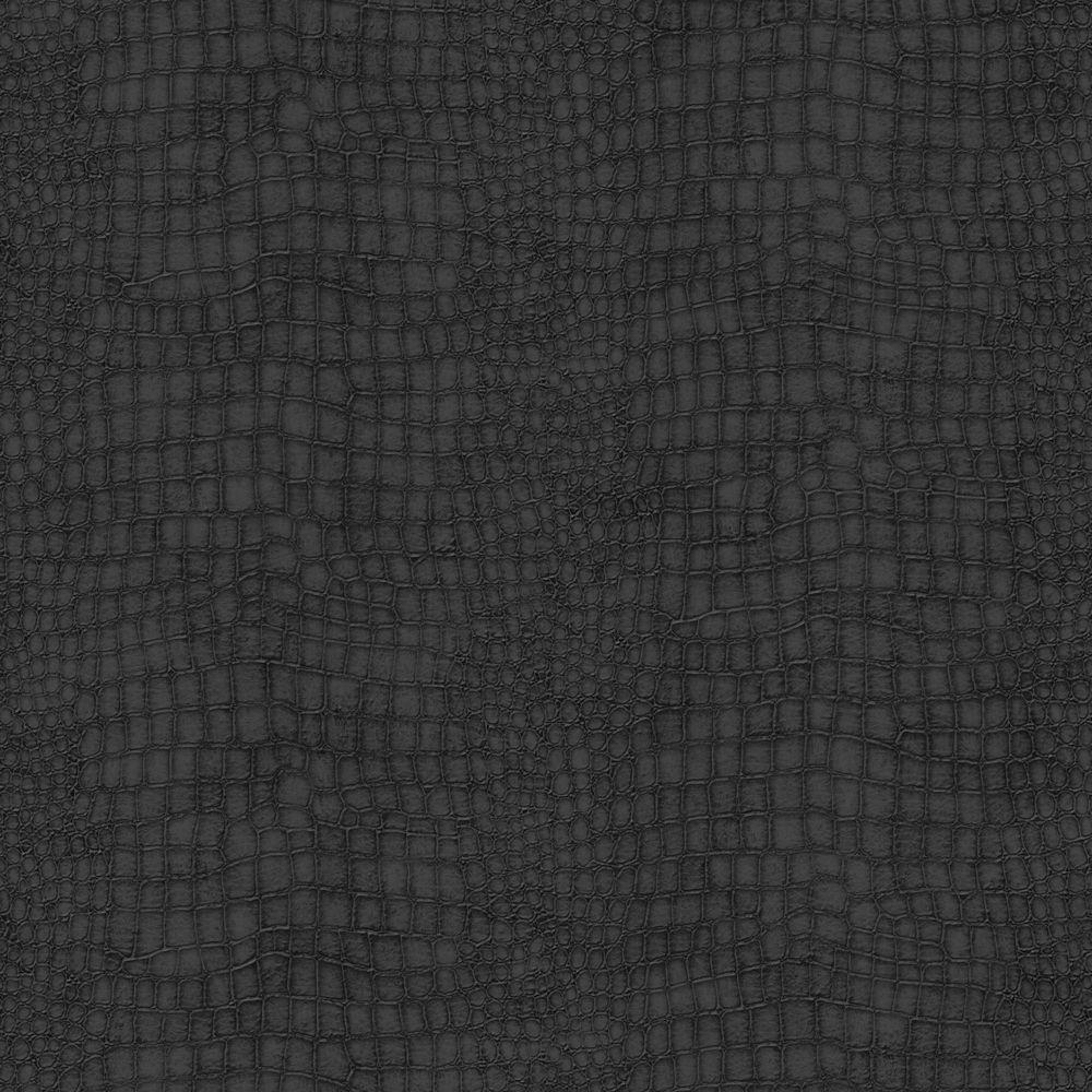 Graham Brown Crocodile Black Black Vinyl Strippable Roll Covers 56 Sq Ft 32 659 The Home Depot