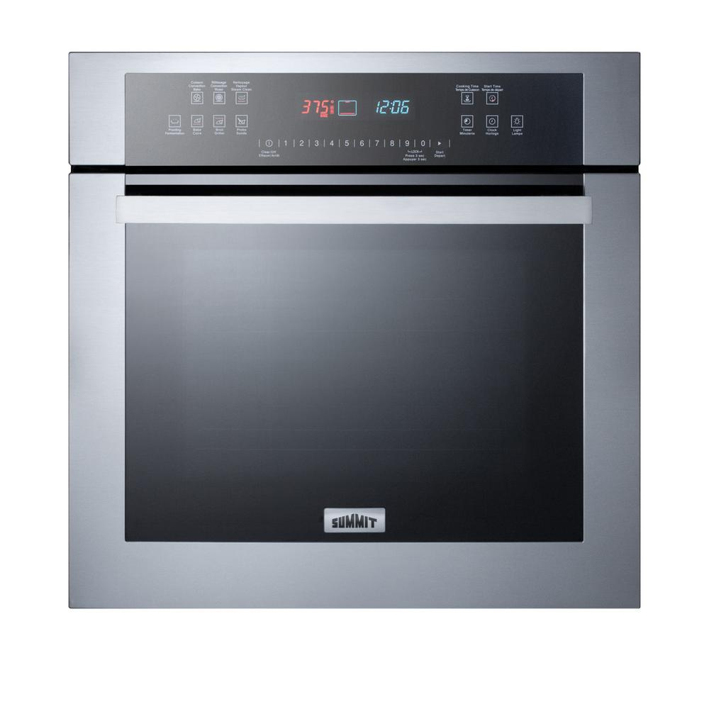 Summit Liance 24 In Single Electric Wall Oven Stainless