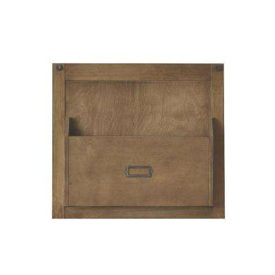 Soren 18 in. H x 20 in. W Wall Magazine Panel in Rustic Pine