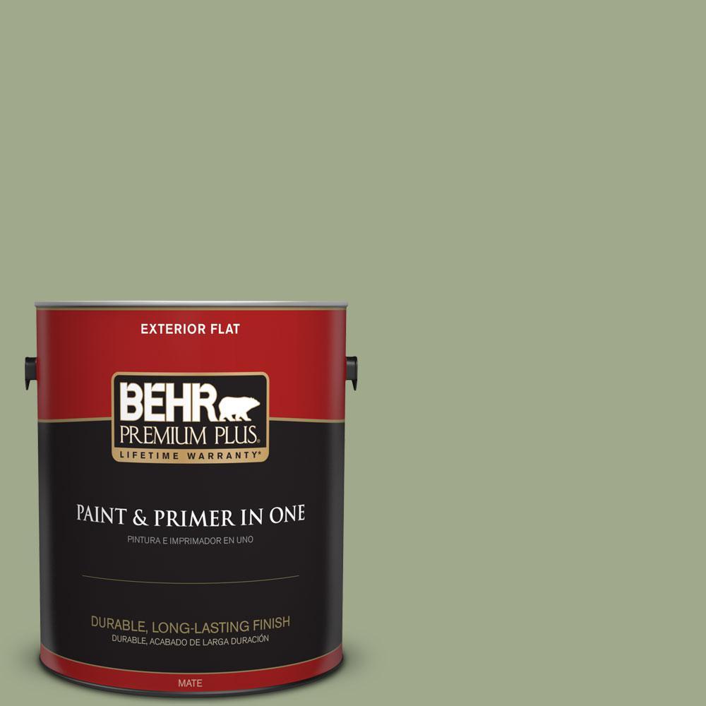 BEHR Premium Plus 1-gal. #PMD-36 Mountain Sage Flat Exterior Paint