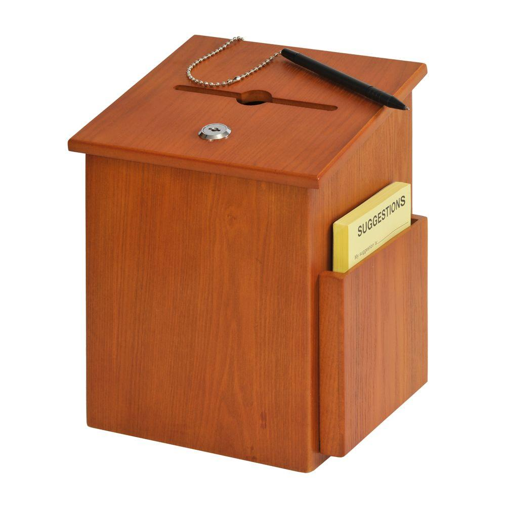 Buddy Products Wood Suggestion Box-5622-11 - The Home Depot