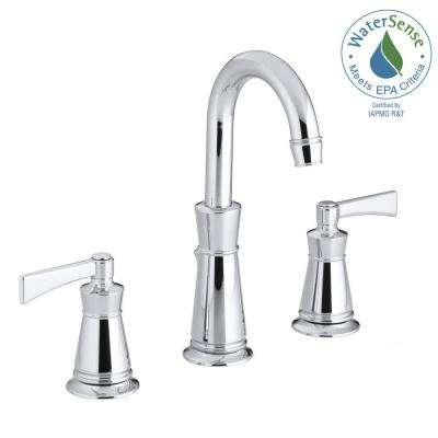 Archer 8 in. Widespread 2-Handle Mid-Arc Water-Saving Bathroom Faucet in Polished Chrome