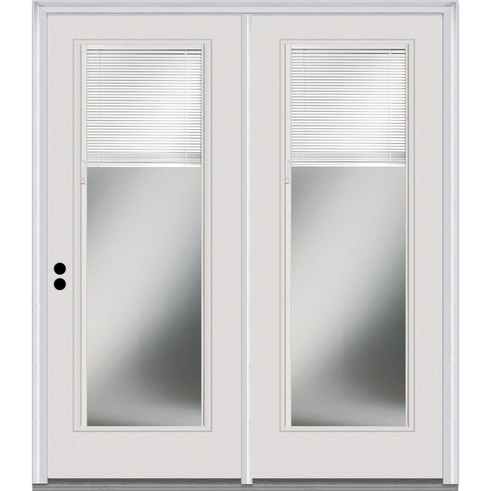 MMI Door 72 In. X 80 In. Steel Right Hand Clear LowE Glass Internal