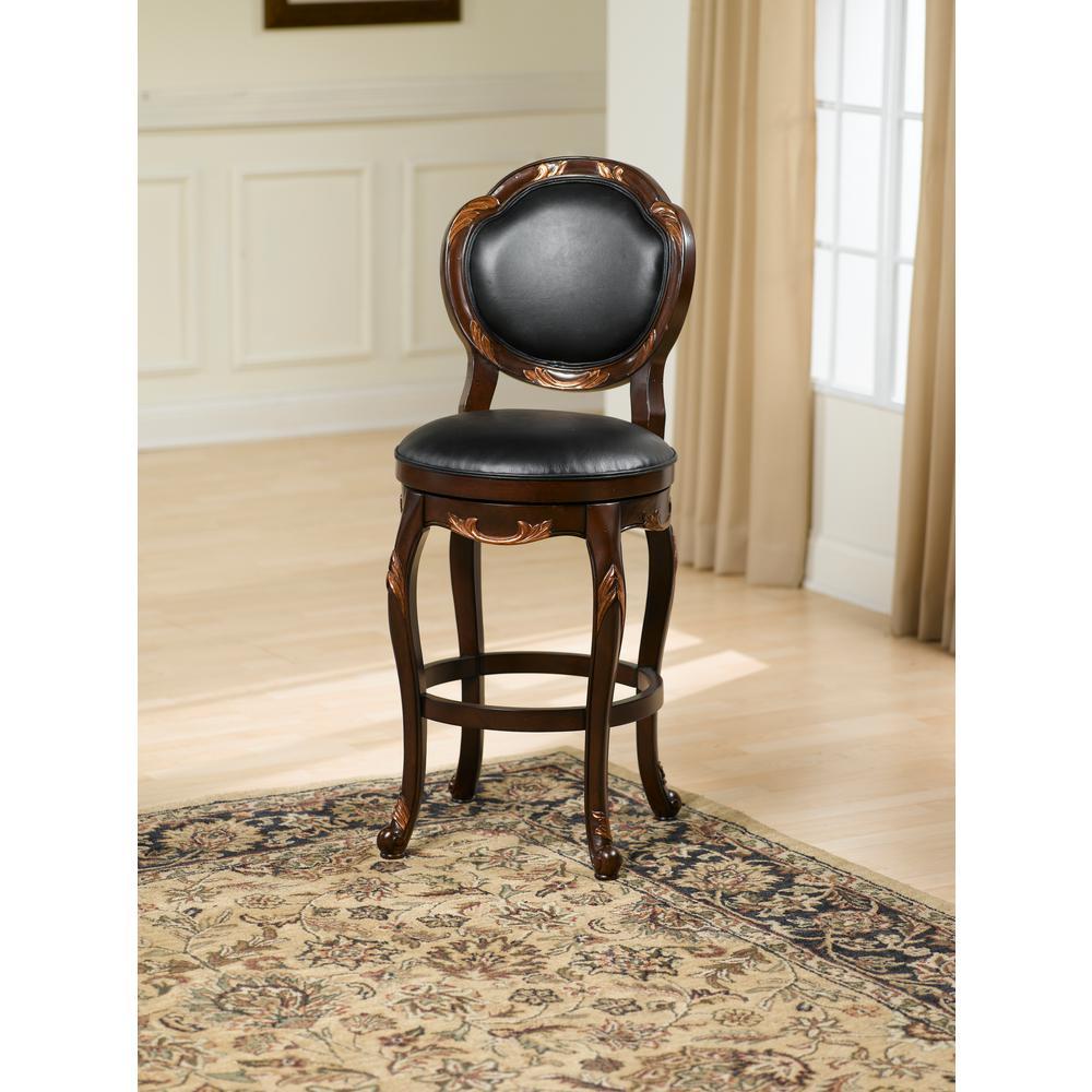 Hillsdale Furniture Alaina 30 In Cherry Swivel Cushioned