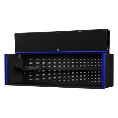 DX 72 in. 0-Drawer Extreme Power Workstation Hutch in Black with Blue Handle