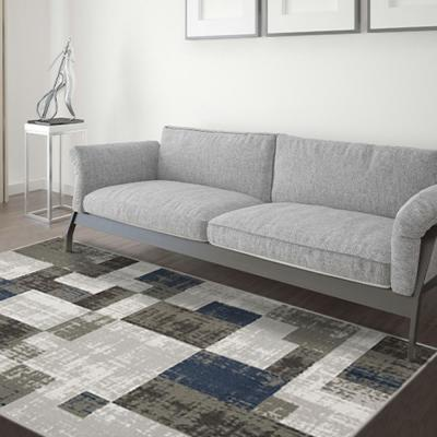 Capri Multi Color 5 ft. x 7 ft. Soliel 3-Piece Rug Set