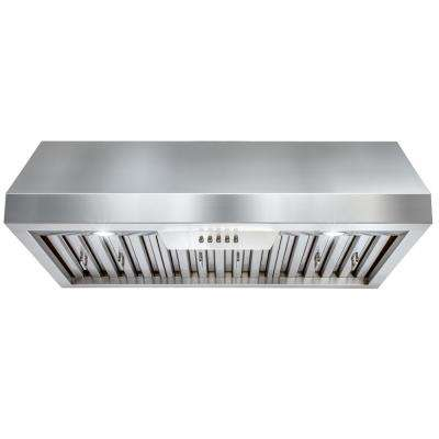 30 in. Under Cabinet Range Hood in Stainless Steel with LEDs and Electronic Push Buttons