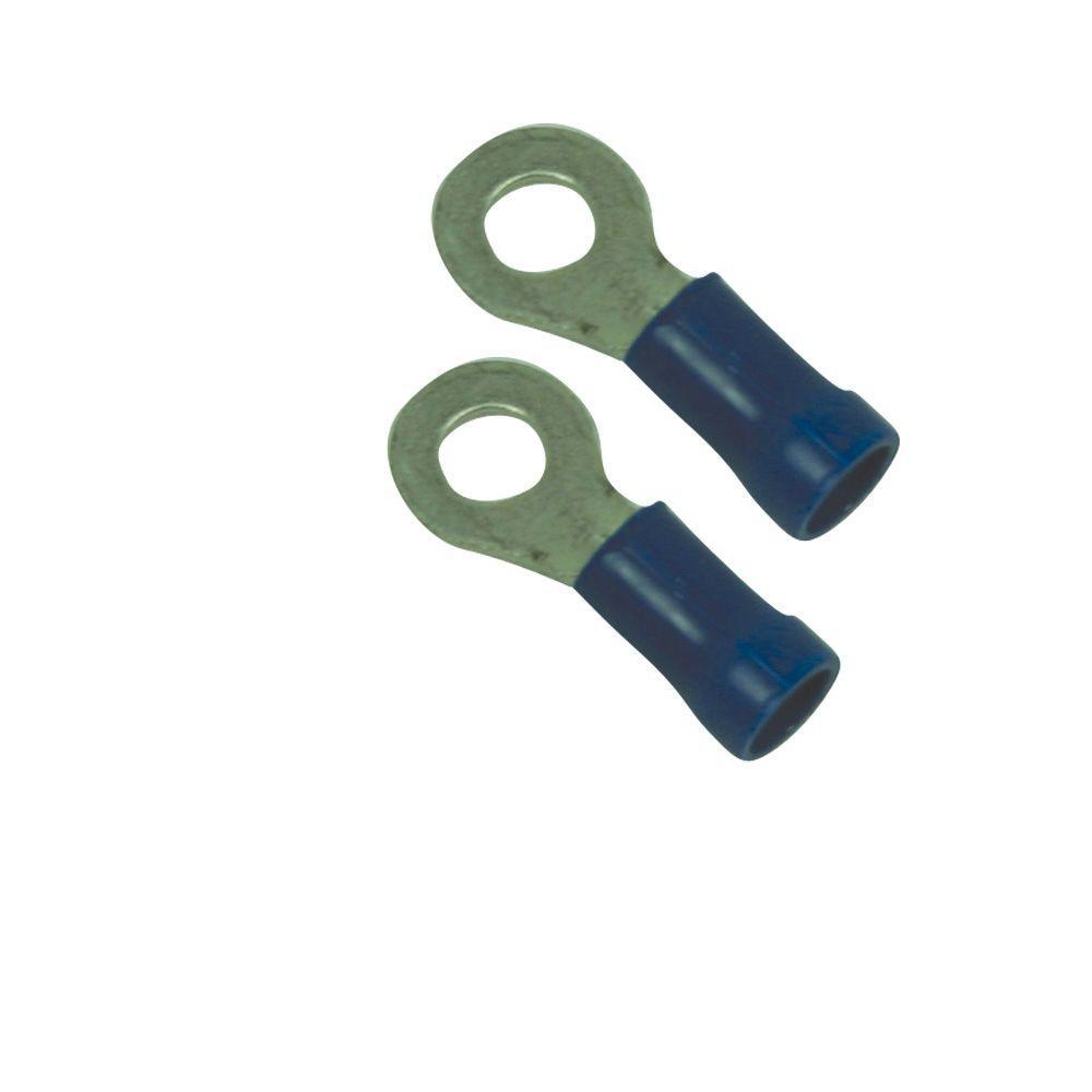 25 Vinyl Solderless Terminal Ring 16//14 Gauge 5//16 Ring