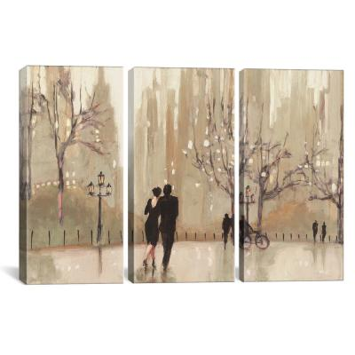 Spring Rain New York Crop Giclee Stretched Canvas Artwork 30 x 20 Global Gallery Julia Purinton