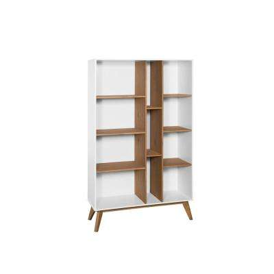 Vandalia White and Natural Wood Bookcase