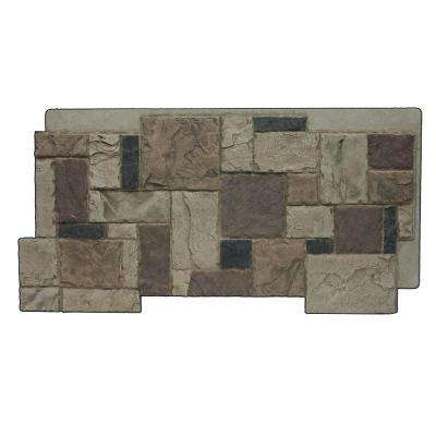 Rustic Lodge 24-3/4 in. x 48-3/4 in. x 1-1/4 in. Faux Windsor Stone Panel