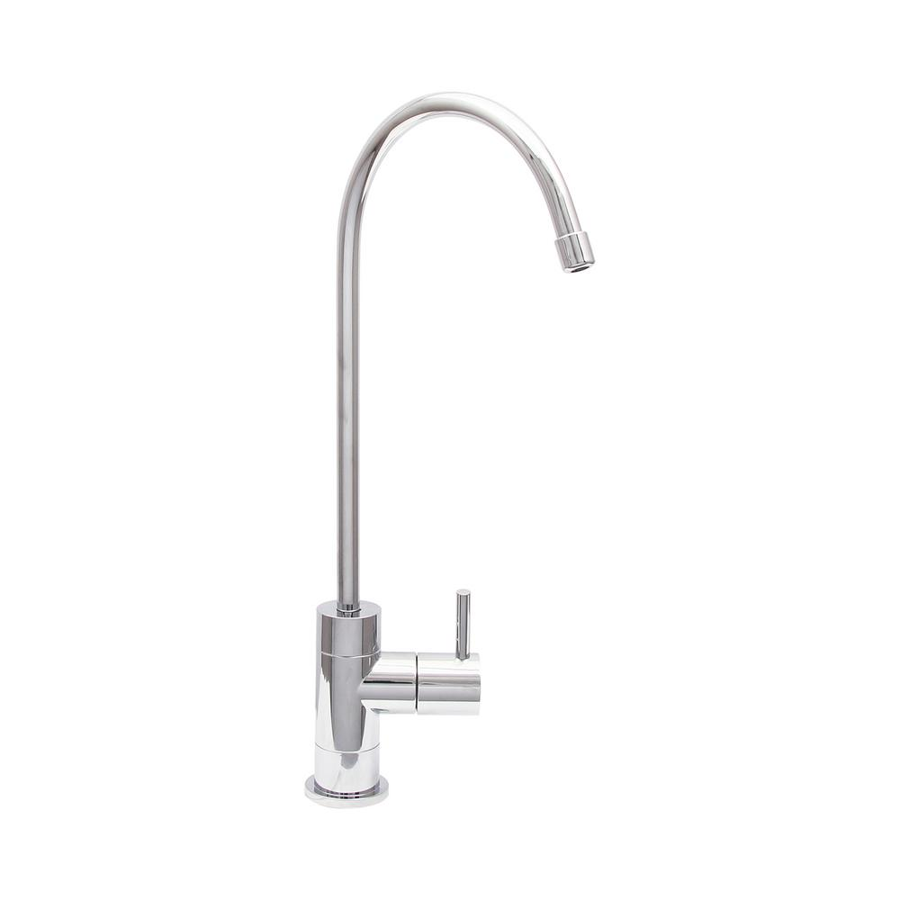Single-Handle Drinking Water Filtration Faucet in Polished Chrome ...