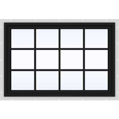 47.5 in. x 35.5 in. V-4500 Series Fixed Picture Vinyl Window with Grids in Bronze