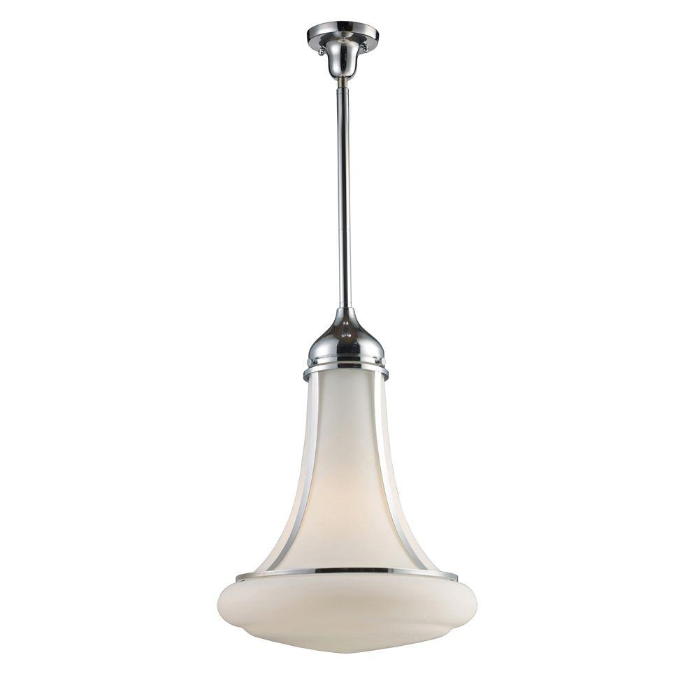 Titan Lighting 1-Light Polished Chrome Ceiling Mount Pendant-DISCONTINUED