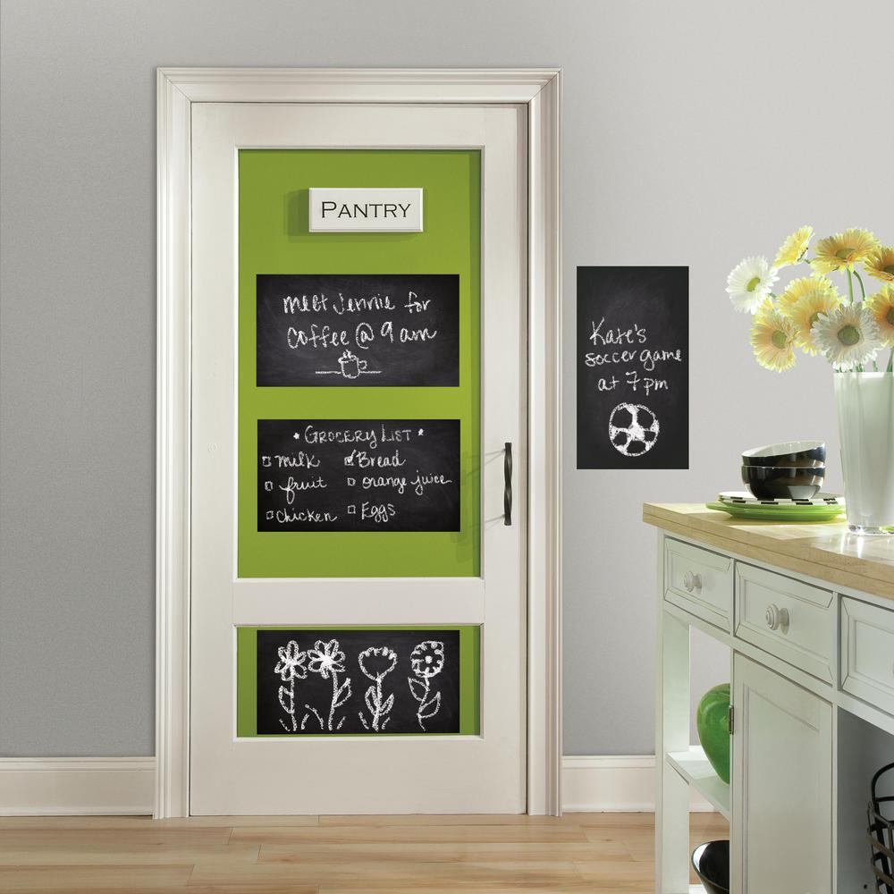 RoomMates 5 in. x 19 in. Chalkboard 4-Piece Peel and Stic...