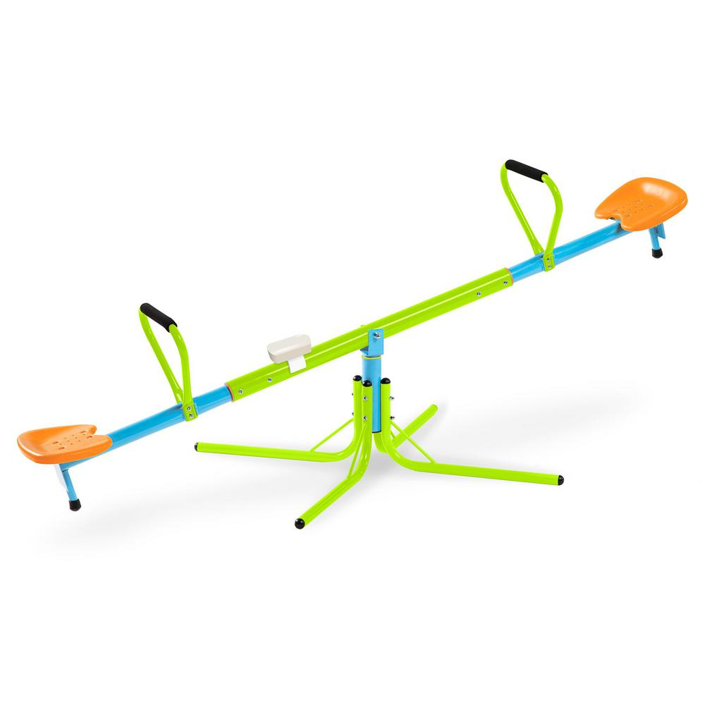 See Saw Kids Swivel Playground Steel Frame Adjustable Heavy Duty Rust Resistant