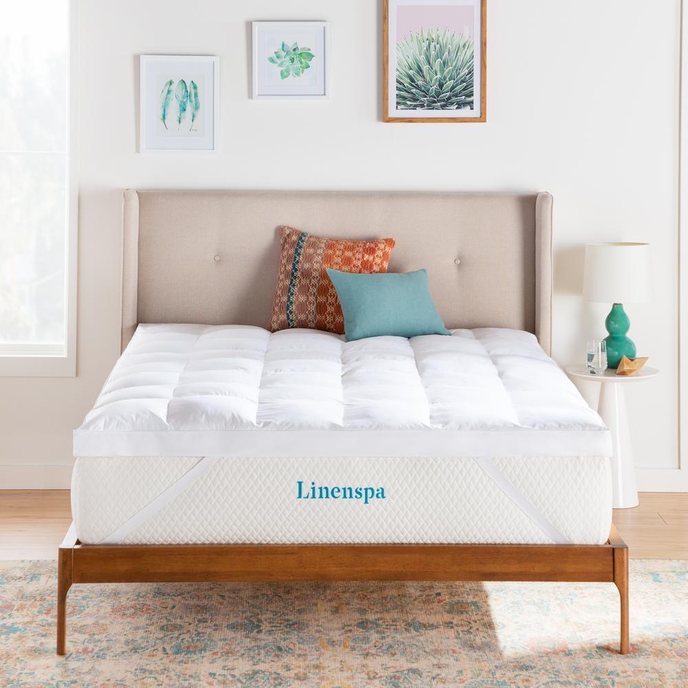 Linenspa Essentials 3 in Twin Down Alternative Fiber Mattress