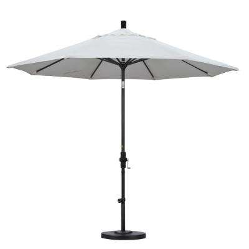 9 ft. Aluminum Collar Tilt Patio Umbrella in Natural Pacifica