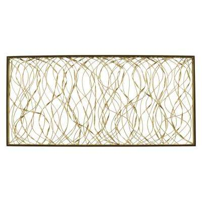 """Abstract Wall Decor in Gold Metal - 22"""" H"""