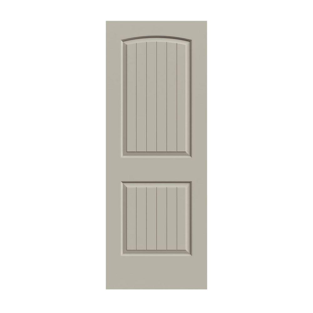 JELD-WEN 36 in. x 80 in. Santa Fe Desert Sand Painted Smooth Solid Core Molded Composite MDF Interior Door Slab