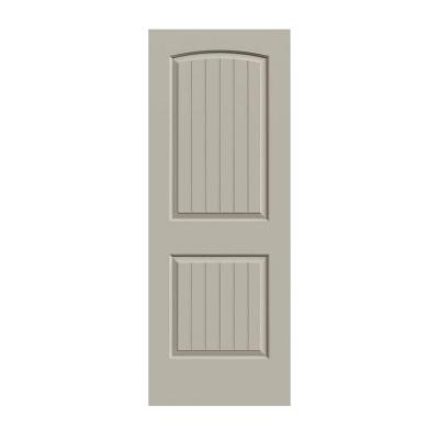 32 in. x 80 in. Santa Fe Desert Sand Painted Smooth Molded Composite MDF Interior Door Slab