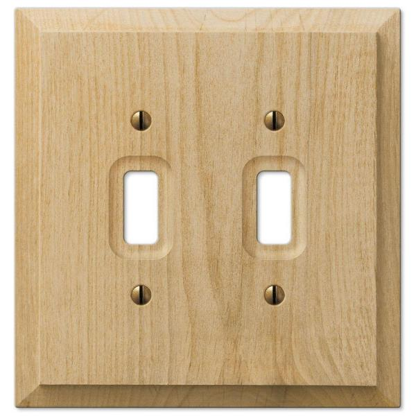 Cabin 2 Gang Toggle Wood Wall Plate - Unfinished