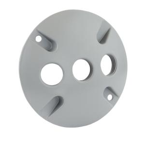 Greenfield Weatherproof Electrical Box Round Cover With Three 1 2 In Holes White C3rws The Home Depot