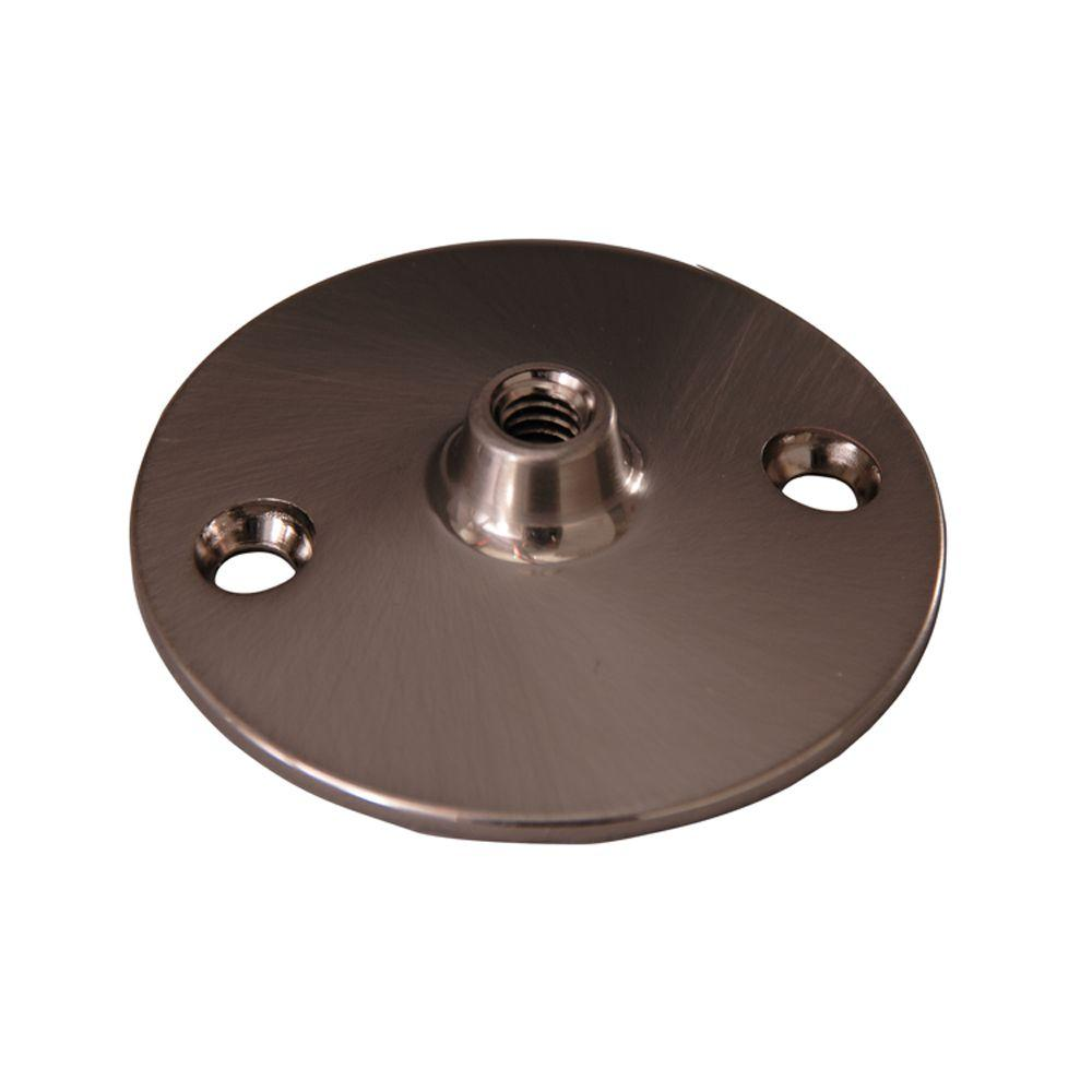 0.37 in. Solid Brass Flange for 340 Ceiling Support in Brushed