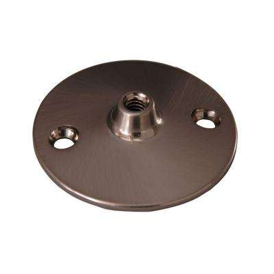 0.37 in. Solid Brass Flange for 340 Ceiling Support in Brushed Nickel