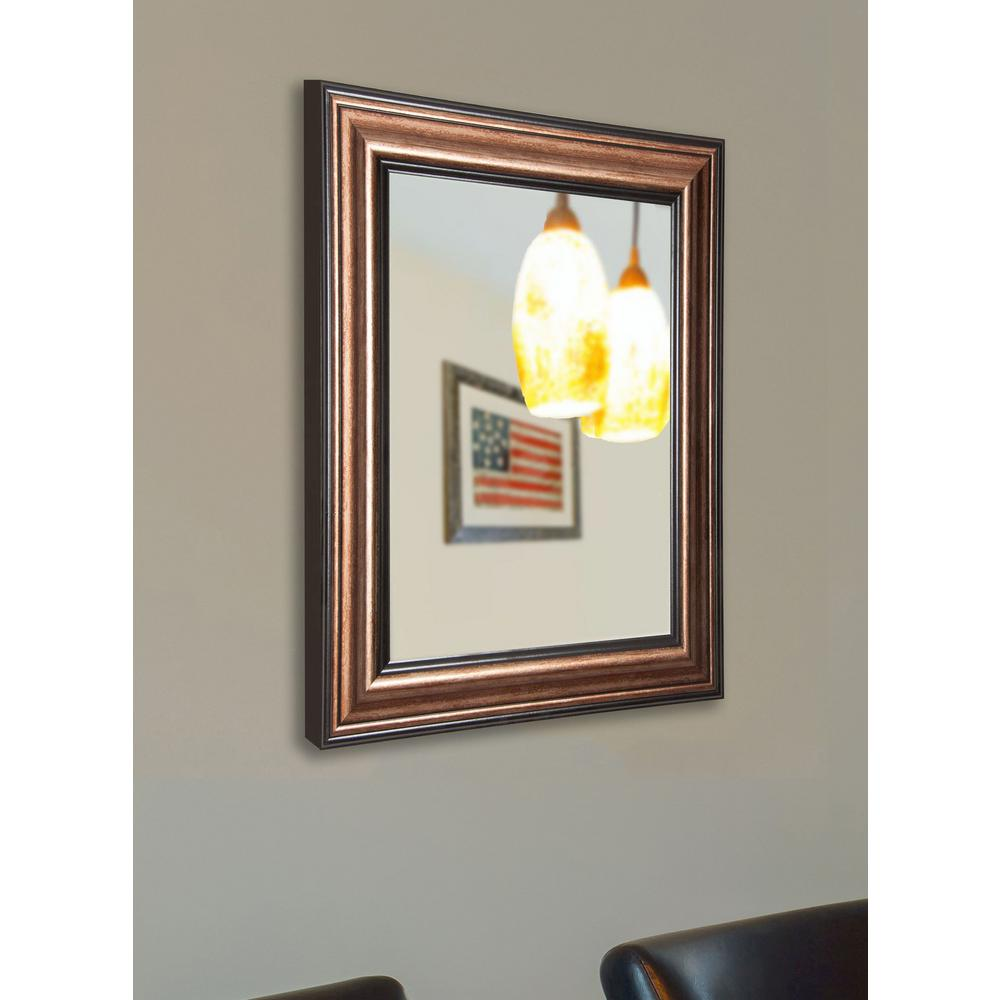 60 in x 40 in canyon bronze non beveled vanity wall for Mirror 40 x 60