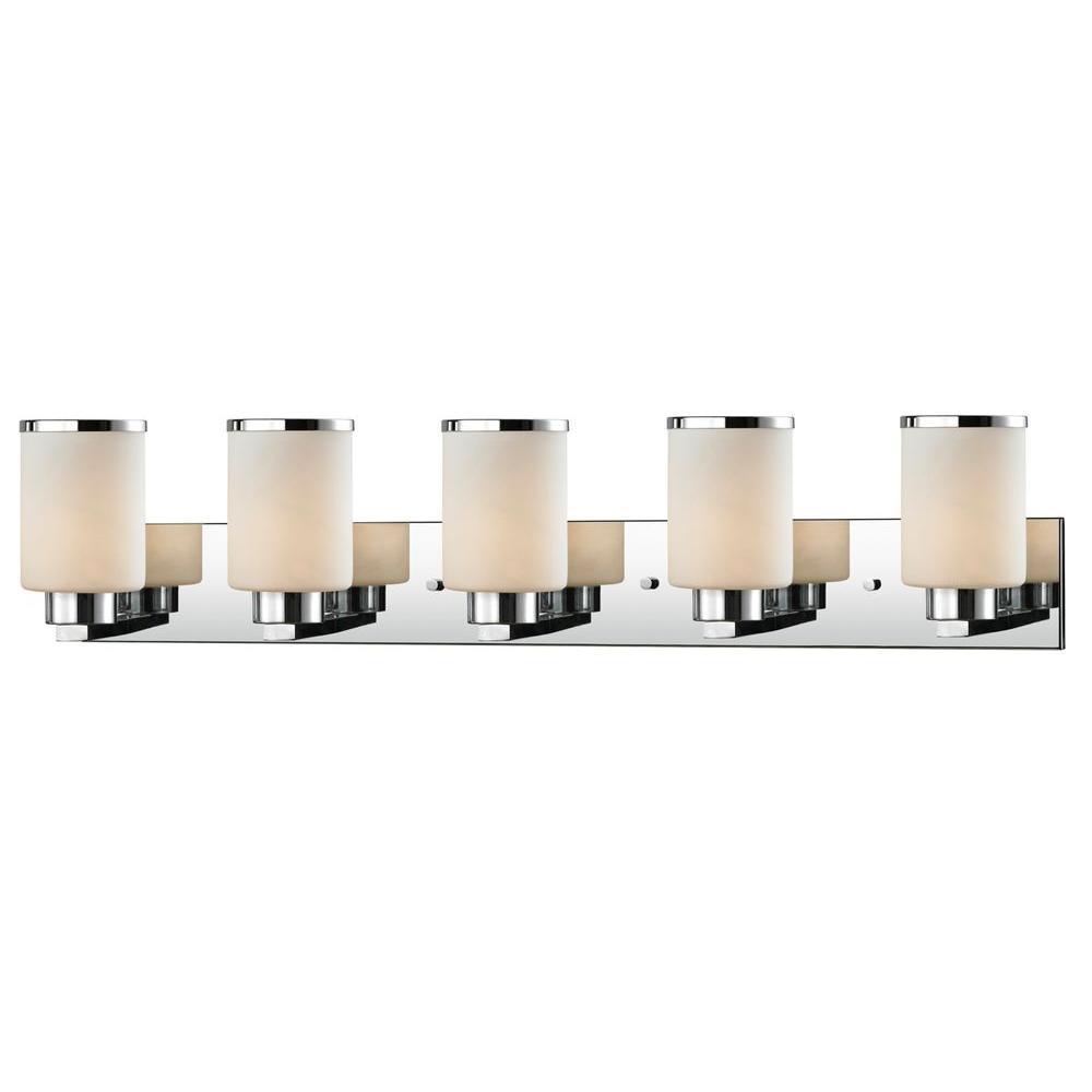Filament Design Empire 5 Light Chrome Bath Vanity Light