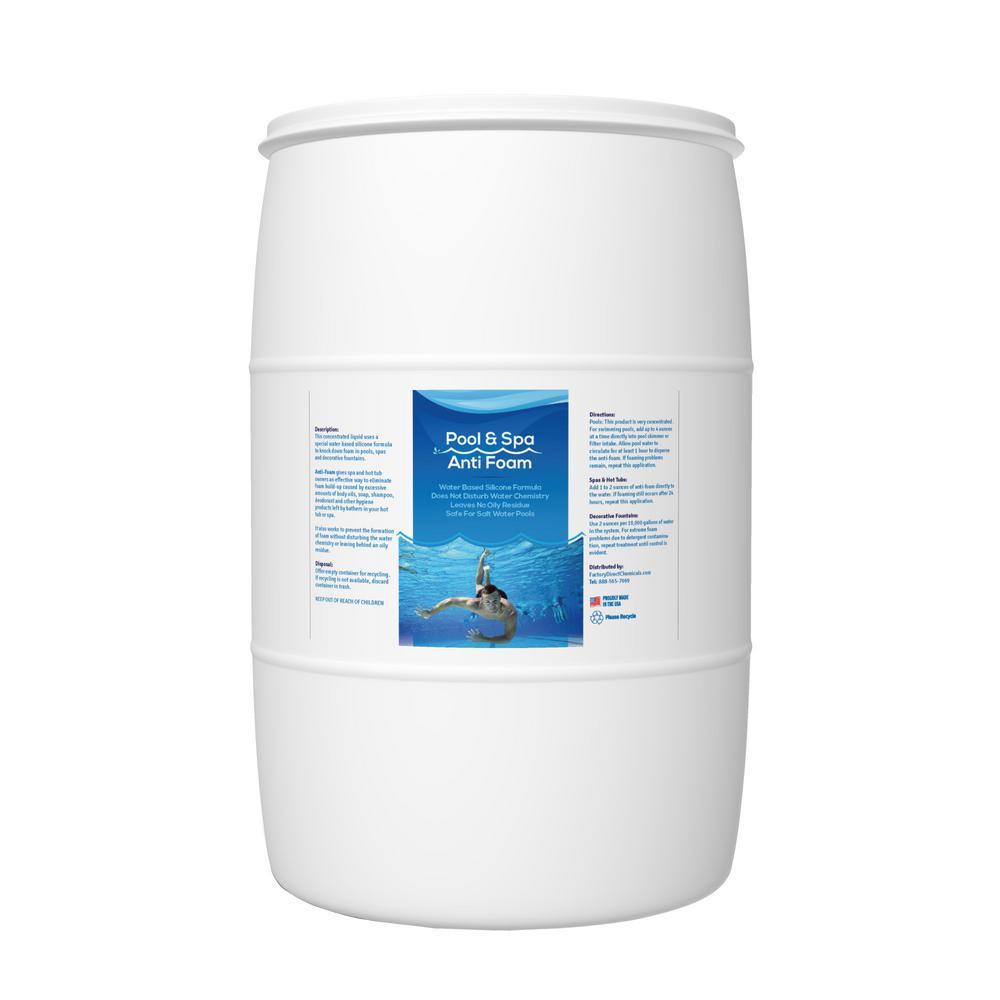 55 Gal. Pool Anti-Foam Pool Clarifier