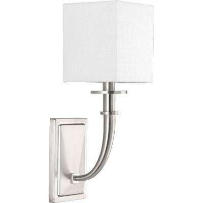 Avana Collection 1-Light Brushed Nickel Wall Sconce