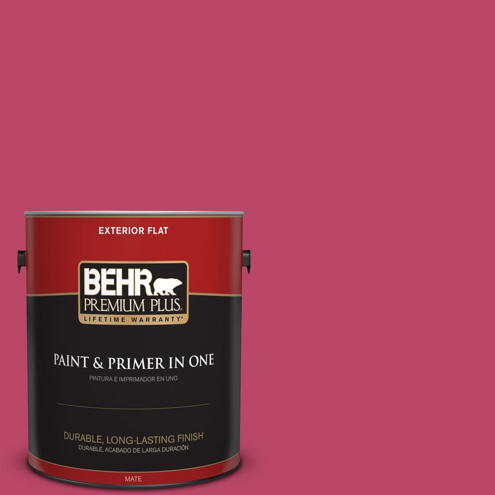 BEHR Premium Plus 1-gal. #S-G-110 Orchid Rose Flat Exterior Paint