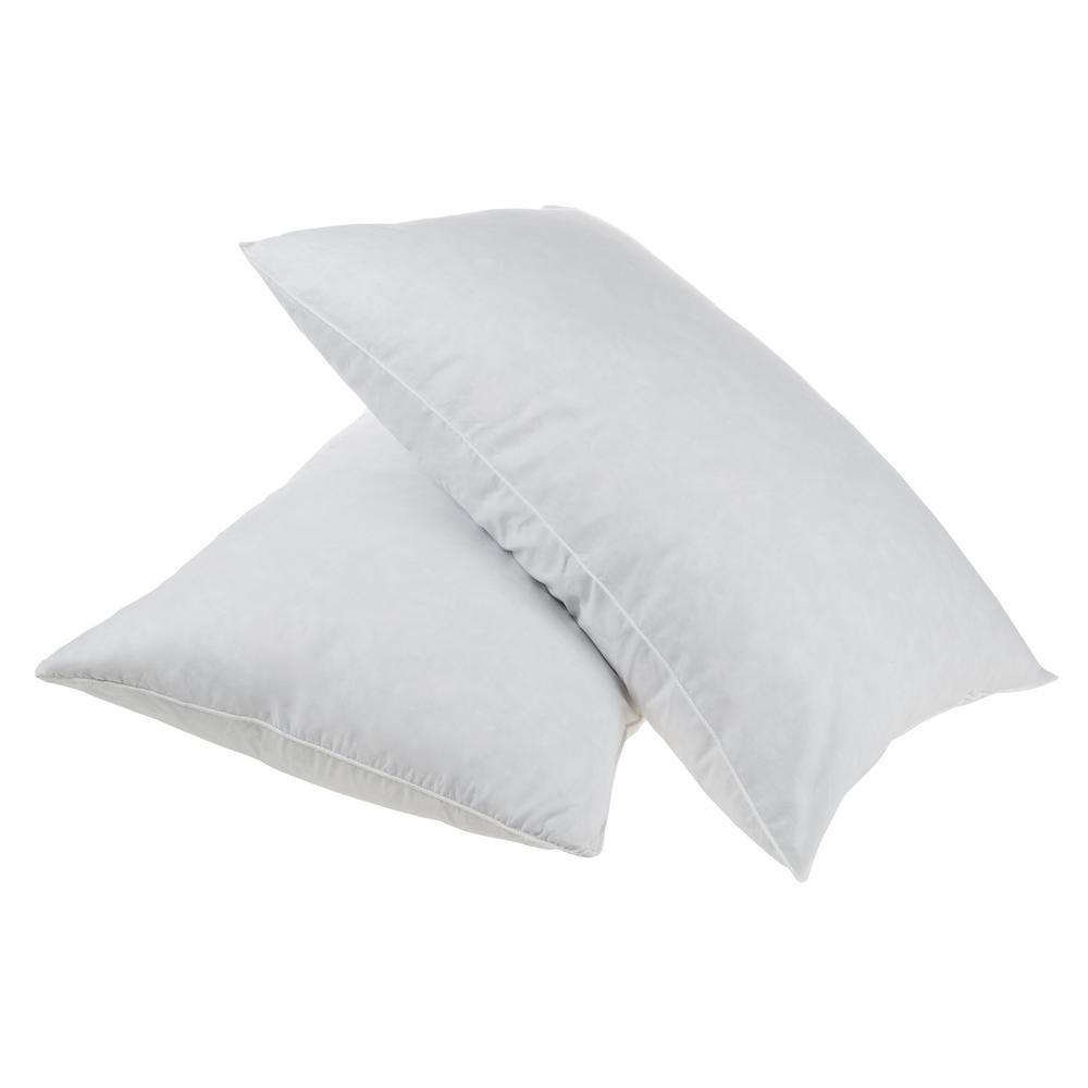 Hypoallergenic Duck Down Standard Pillow (Set of 2)