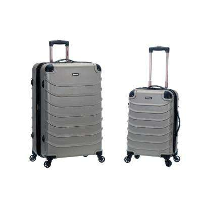 Rockland Expandable Speciale 2-Piece Hardside Spinner Luggage Set, Silver