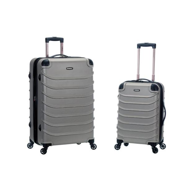 e75475fb8 Rockland Rockland Expandable Speciale 2-Piece Hardside Spinner Luggage Set,  Silver